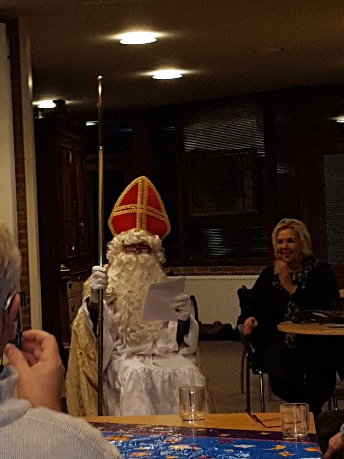 Sinterklaas bij het koor!